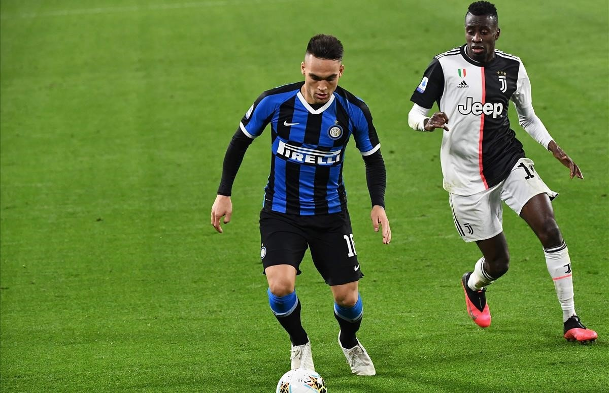Lautaro Martínez, en el último partido del Inter antes de la suspensión del campeonato italiano por la pandemia.