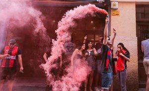 Incidents, caos i nul·les distàncies en la celebració del títol del Baskonia