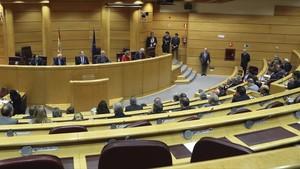 Sesión constitutiva de la comisión del Senado que debe tramitar la aplicación del artículo 155 de la Constitución.