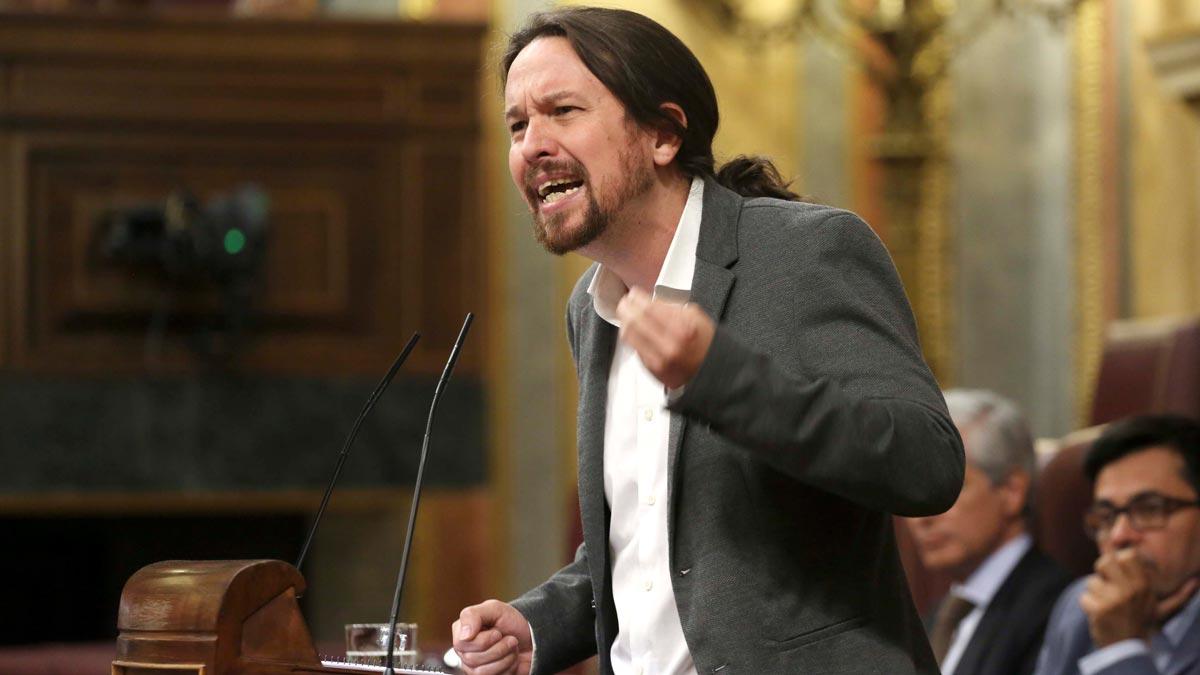 Sesión de control al Gobierno, interviene Pablo Iglesias.