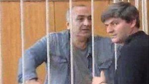 Tariel Oniani, tras ser detenido.