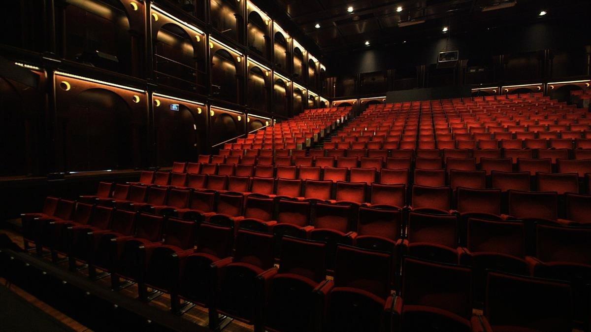 La platea vacía del Teatre Lliure.