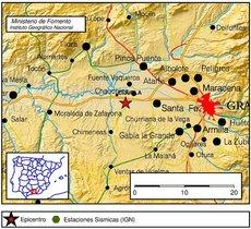 Un terremoto de magnitud 4 sacude Granada