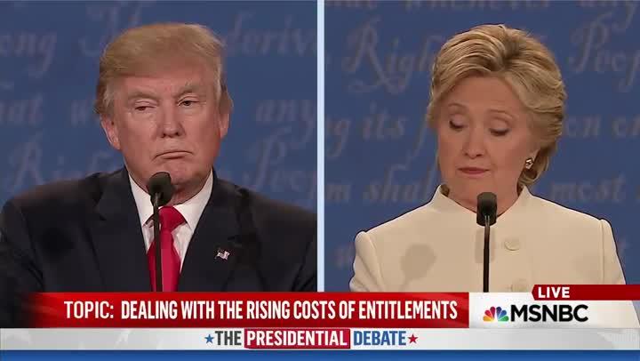 Momento en que Trump interrumpe a Clinton para decir ¡Qué mujer tan asquerosa!.