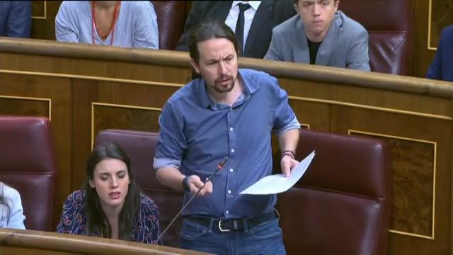 Pablo Iglesias plora a l'hemicicle al llegir les tortures de 'Billy el Niño'