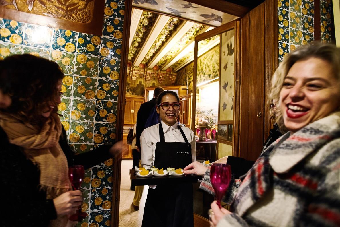 Uno de los caterings de Casa Vicens,de los que se encarga Hofmann.