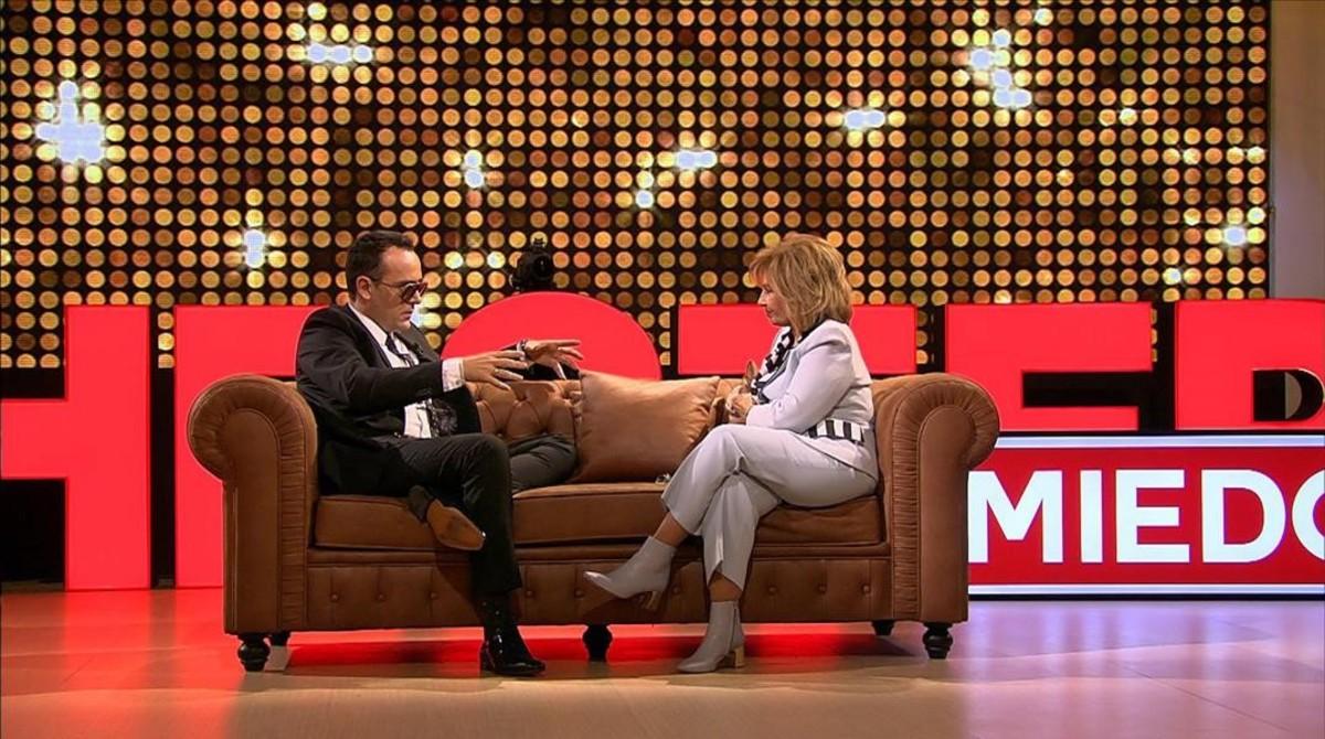 Risto Mejide con María Teresa Campos, primera invitada de la nueva temporada de Chester.
