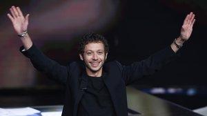 Valentino Rossi, anoche, en el programa de RAI1 Che tempo che fa.