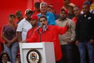 Venezuela s President Nicolas Maduro speaks during a rally in Caracas Venezuela May 1 2019 REUTERS Fausto Torrealba NO RESALES NO ARCHIVES