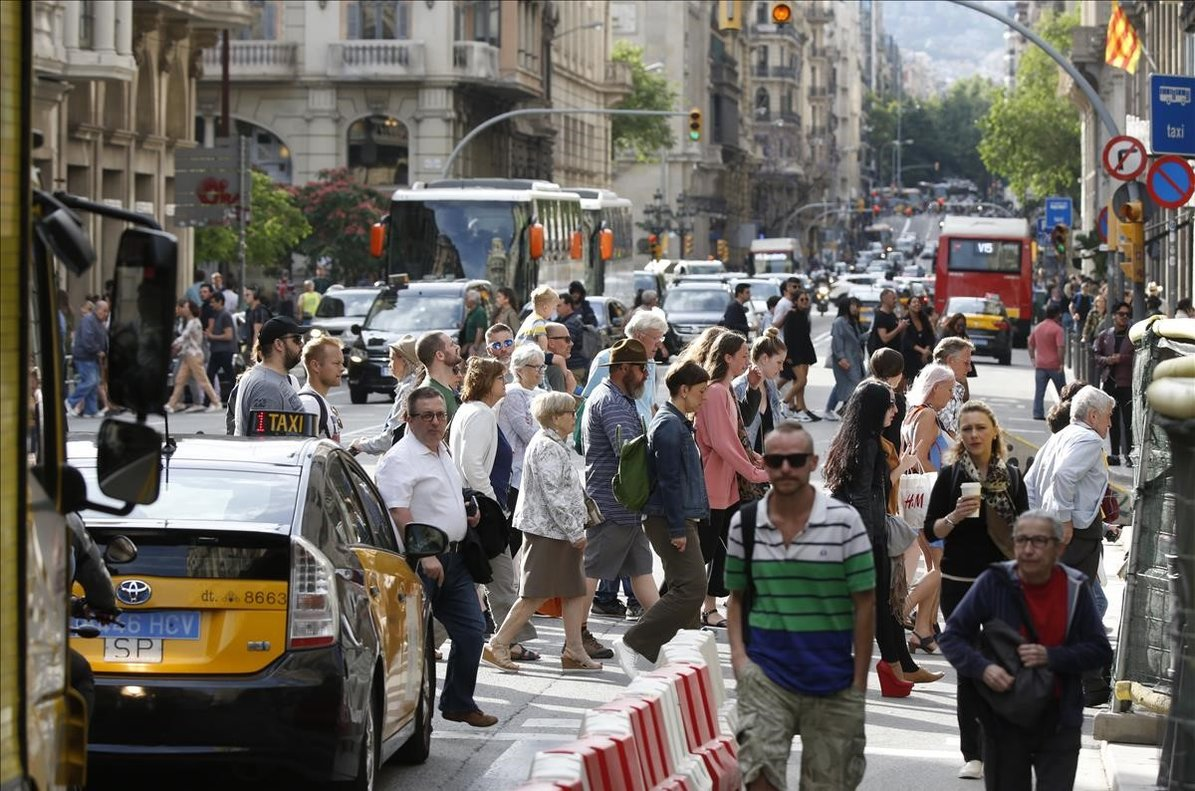 La Vía Laietana de Barcelona, una de los retos a afrontar por Ada Colau en la nueva legislatura.