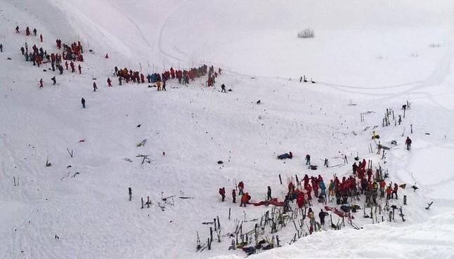 Primera imagen del lugar de la avalancha.