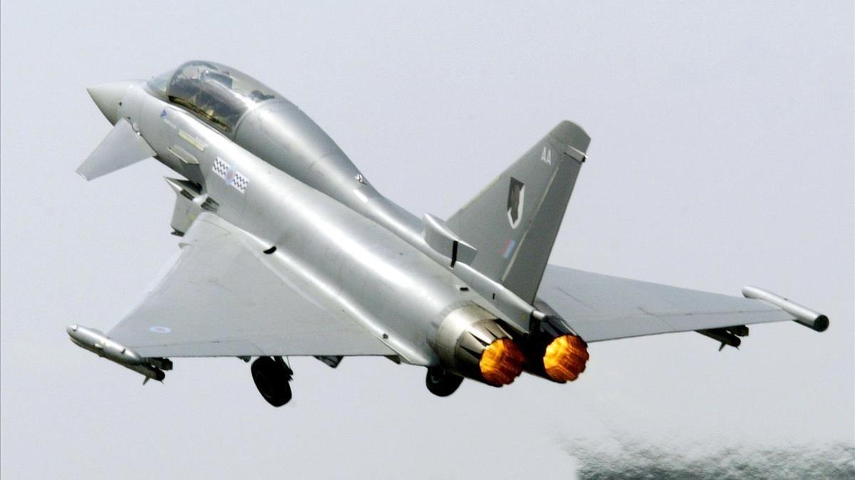 Un Eurofighter, en una foto de archivo.