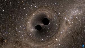 Simulación de ordenador de un agujero negro.