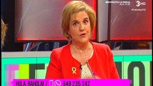 Pilar Rahola, en su sección del programaTot es mou, de TV-3.