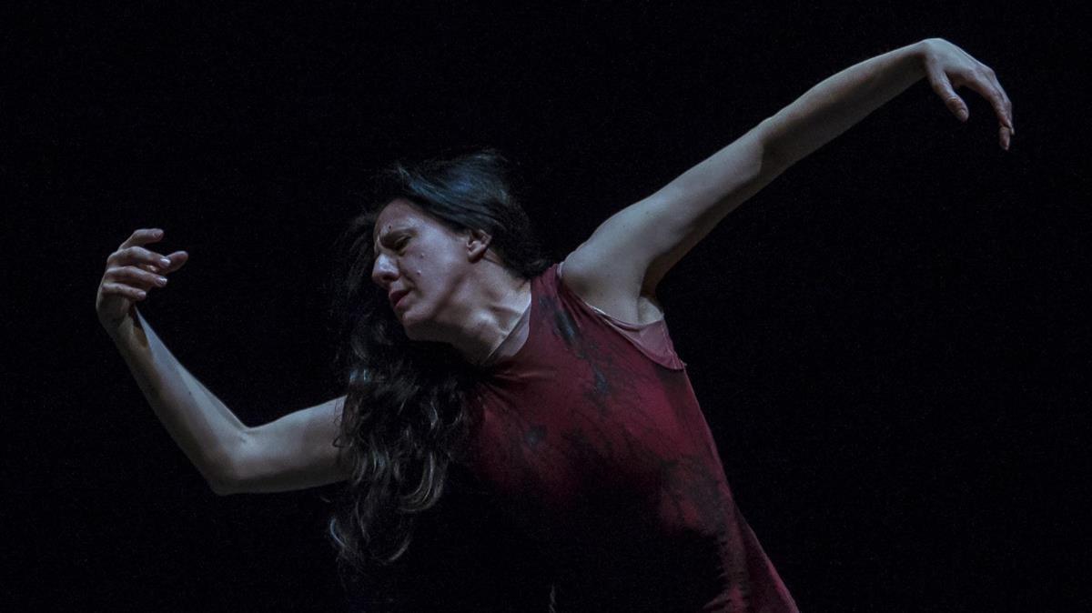 María Pagés en una escena de Oda al tiempo, su nuevo espectáculo.