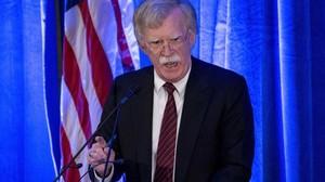 John Bolton, consejero nacional de Seguridad, habla ante la Federalist Society, en Washington, el 10 de septiembre del 2018.