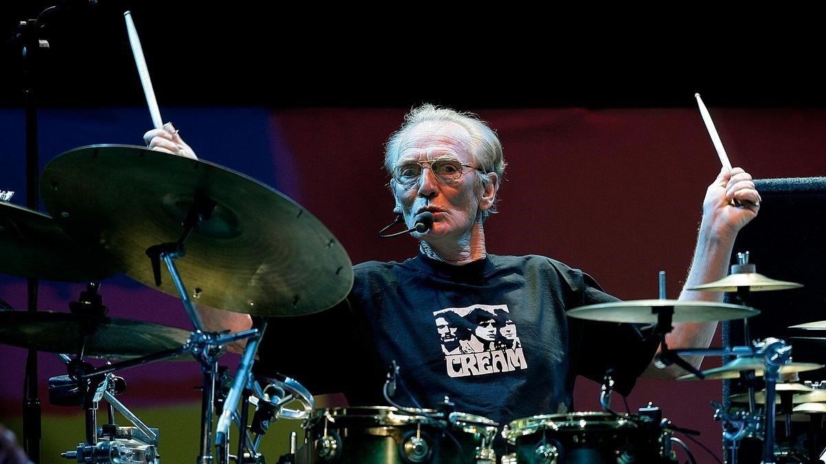 El batería Ginger Baker, fallecido este domingo a los 80 años.