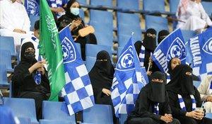 Espectadoras de la Champions Asiática, en el estadio Rey Saud, el 9 de noviembre del 2019.