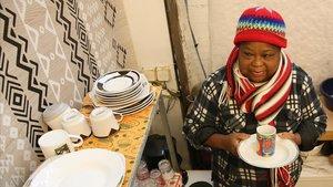 Virgina, una de las mujeres migrantes sin hogar que vive en La Caracola.