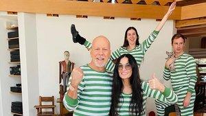 Bruce Willis y Demi Moore, en familia.