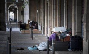 Barcelona registra la xifra de persones sense llar més alta de la seva història