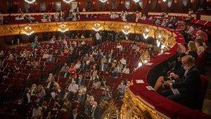 El público del Liceu durante el recital de Radvanovsky y Beczala.