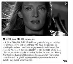 El mensaje de Uma Thurman.