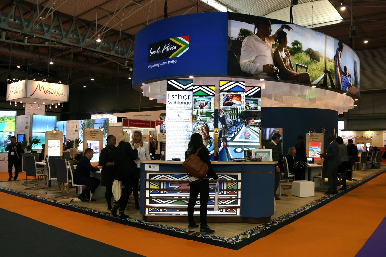 El pabellón de Sudáfrica en el salón IBTM de Barcelona este 2019.