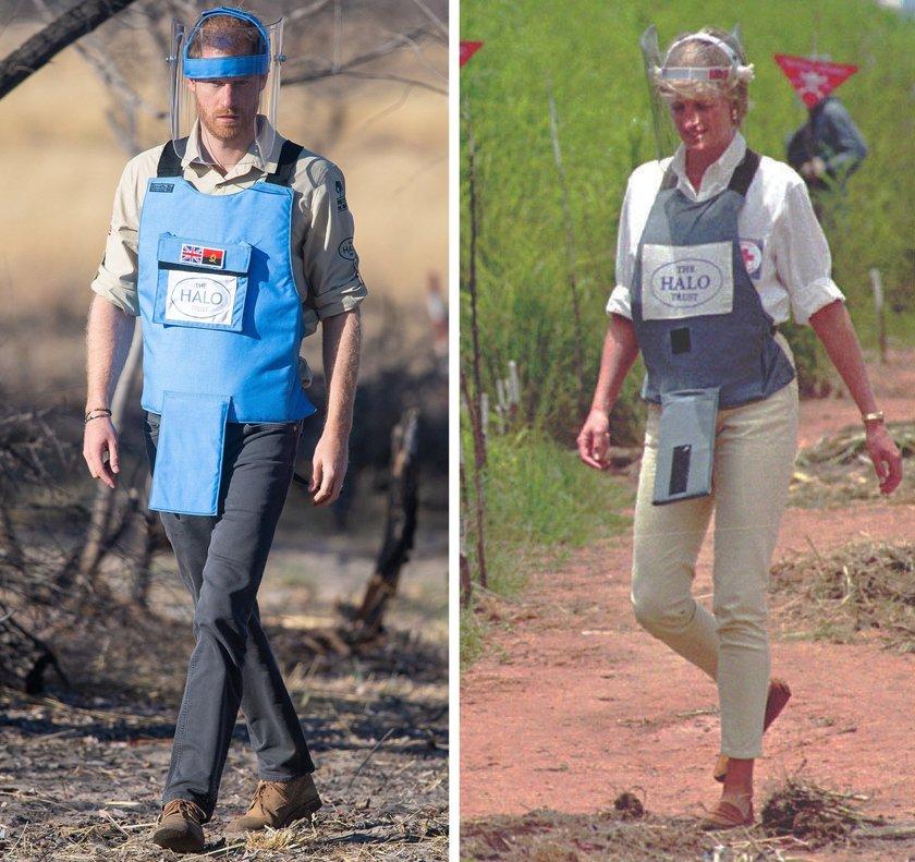 Veintidós años después, el príncipe Enrique ha visitado un campo desminado en Angola, en Dirico,tal como hizo en 1997 su madre, Lady Di.