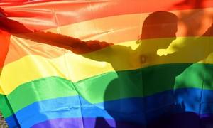 La bandera multicolor, que representa el orgullo LGBT.