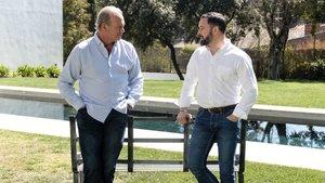 Bertín Osborne con Santiago Abascal en 'Mi casa es la tuya'.