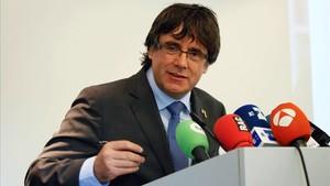 Carles Puigdemont el pasado día 19 de septiembre en Flandes.