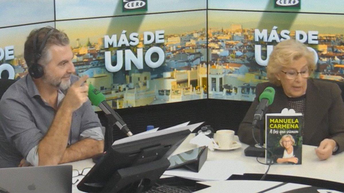 La reacción de Alsina al escuchar un pedo en directo mientras entrevistaba a Manuela Carmena