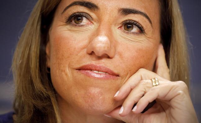 Carme Chacón, el pasado agosto, cuando anunció su renuncia al acta de diputada.