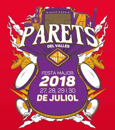 Cartel de la Fiesta Mayor de Verano de Parets.