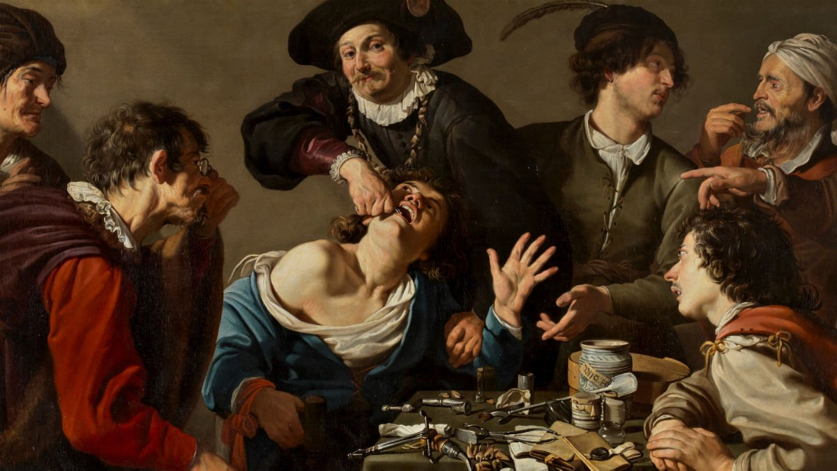 El charlatán sacamuelas, obra de Theodoor Rombouts.