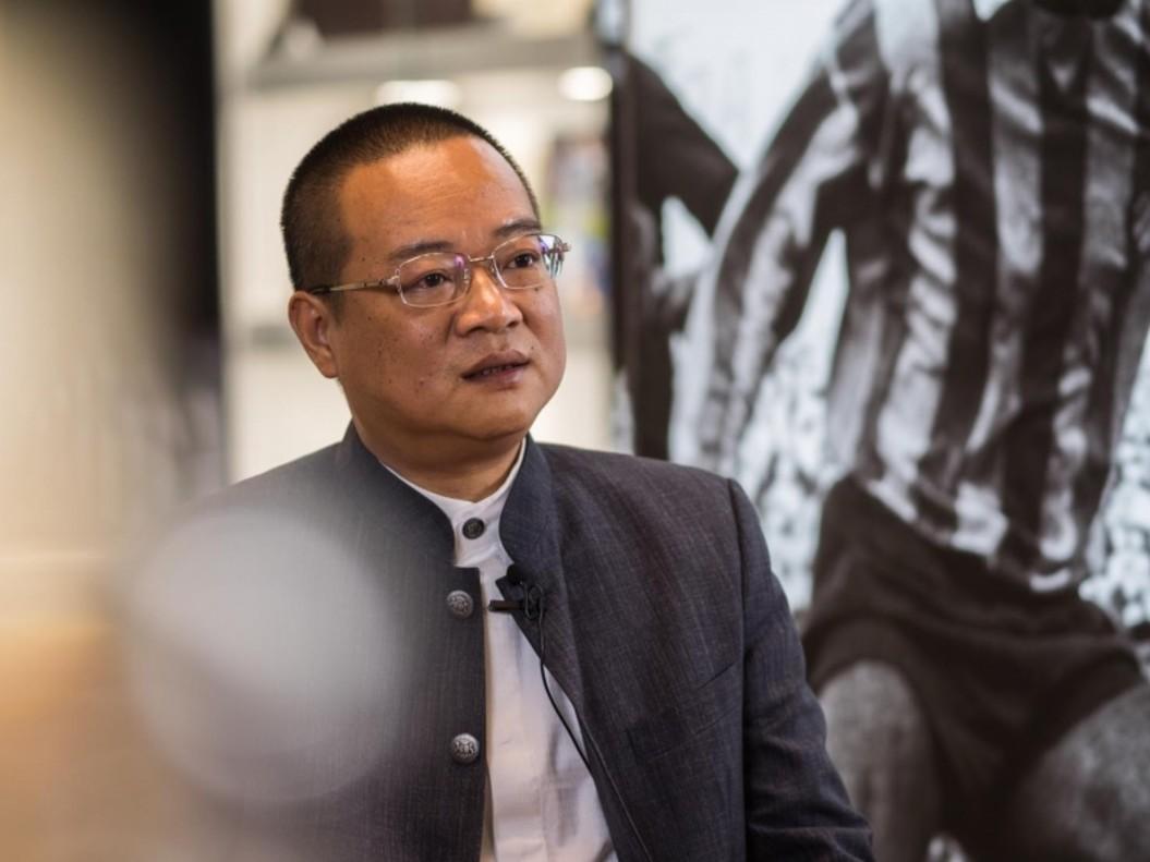 Chen Yansheng, durante una entrevista con los medios oficiales del Espanyol.