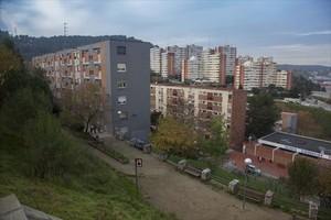 Ciutat Meridiana, en Nou Barris, el barrio con mayor proporción de desahucios de Catalunya.