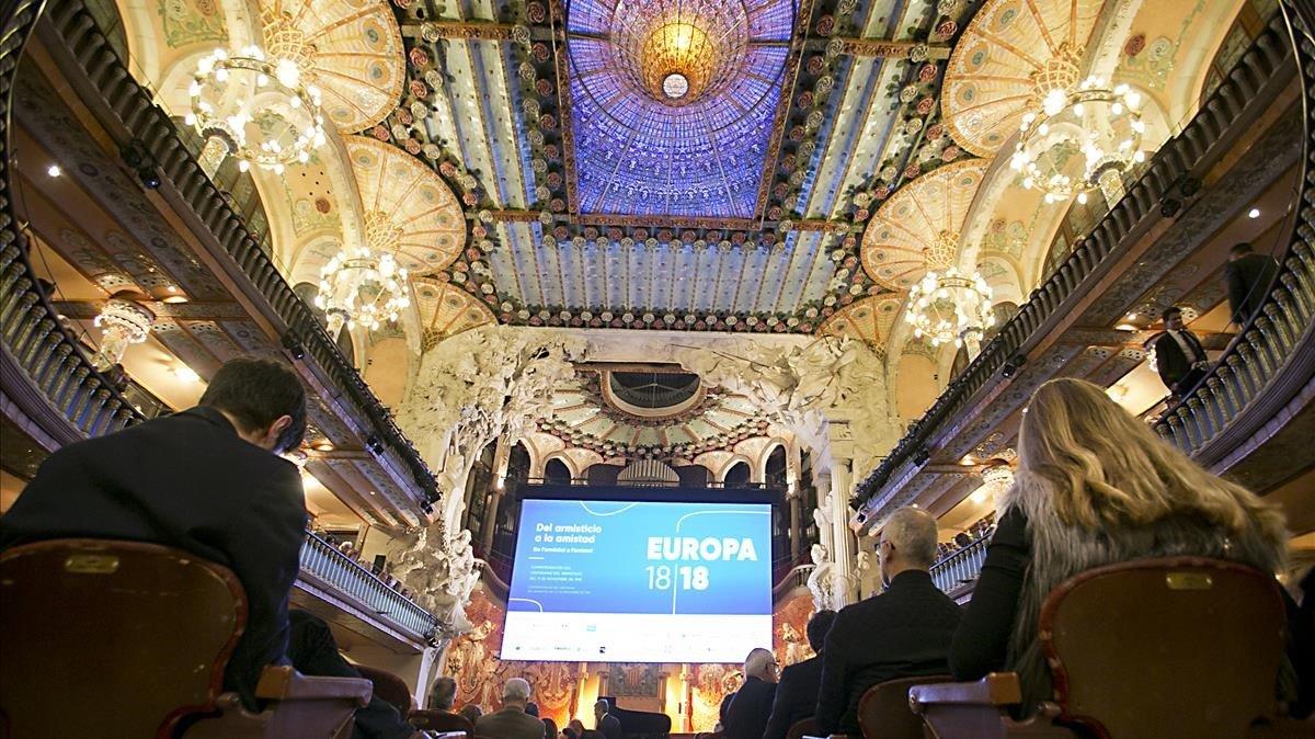 Conmemoración 100 años armisticio de la primera guerra mundial en el Palau de la Música.