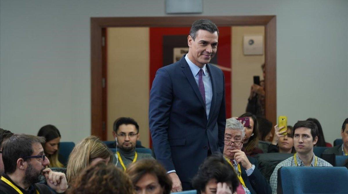 Pedro Sánchez comparece tras el primer Consejo de Ministros de la legislatura.