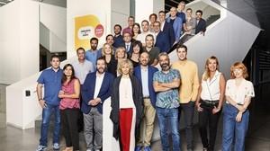 La foto de familia de la presentación de la nueva temporada de Catalunya Ràdio.