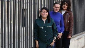 Germania Mora, Eva Antúnez y Eva Berrocal, tres mujeres que sufren endometriosis.