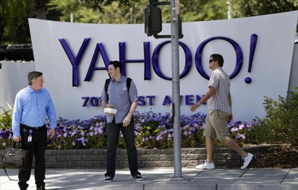 Entrada de la sede central de Yahoo en la localidad californiana de Sunnyvale.