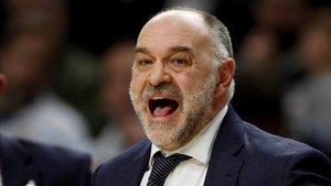 El entrenador del Madrid de baloncesto, Pablo Laso.