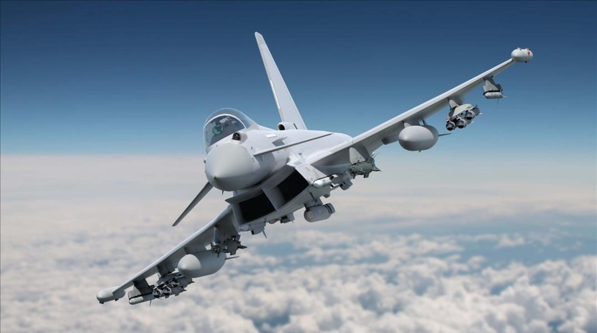 Un Eurofighter en una imagen de archivo.