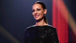 Eva González en la primera gala de directos de La voz en Antena 3.