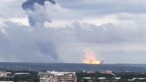 Explosión en una base militar del norte de Rusia.