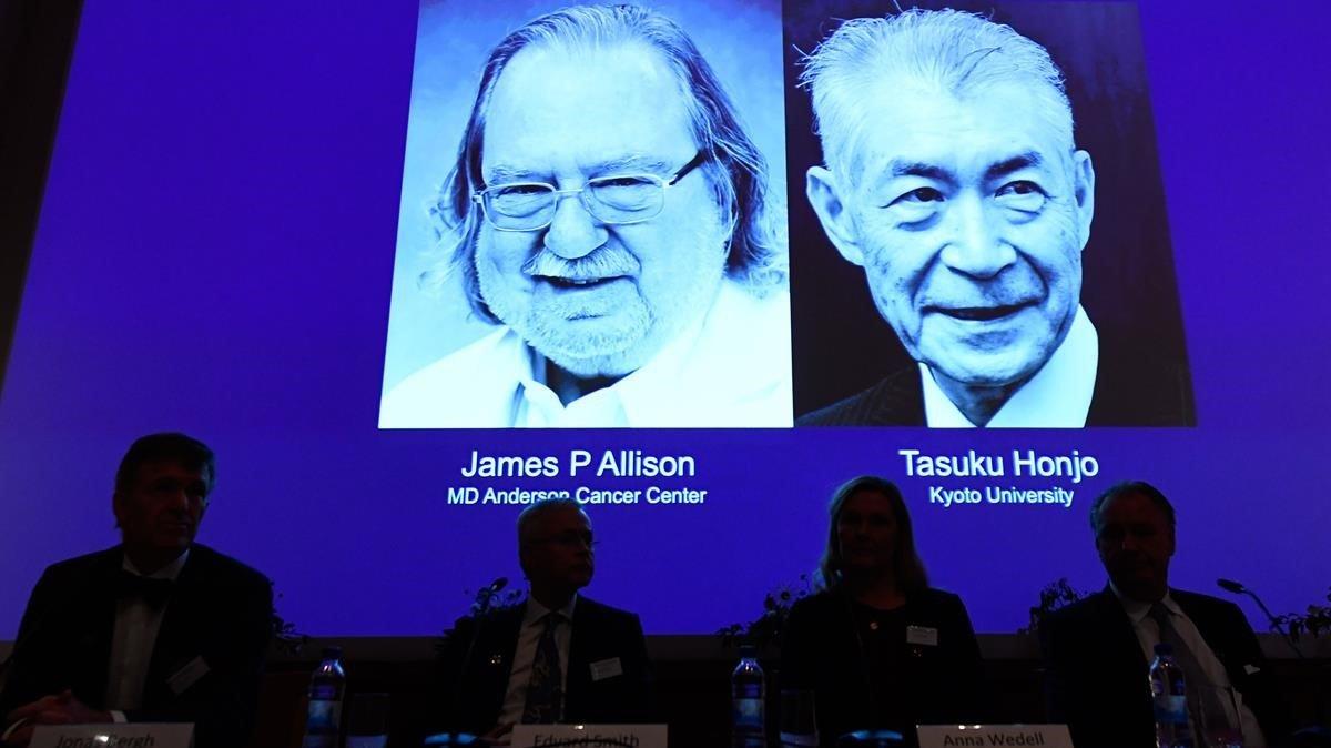 Premi Nobel de Medicina 2018 per a James Allison i Tasuku Honjo