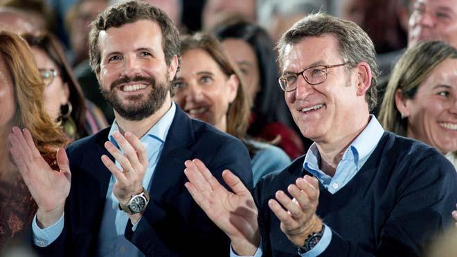 Feijóo i Rajoy s'allunyen dels pactes de Casado amb Vox
