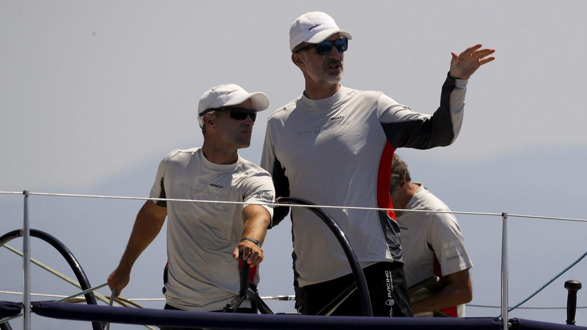 Felipe Vi, de regata en Mallorca.